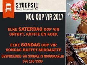 Stoepsit Restaurant en Venue is nou oop vir 2017