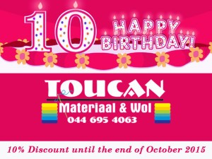 Toucan in Mossel Bay Celebrates their 10th Birthday