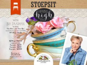 Spring High Tea with Ina Paarman at Stoepsit Vlees Bay