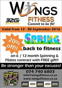 20% Discount on Spinning and Pilates Contracts in Mossel Bay