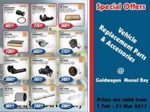 Vehicle Replacement Parts on Special Offers in Mossel Bay