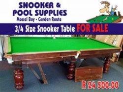 Snooker Table For Sale in Mossel Bay