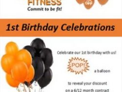 Birthday Promotion at Wings Fitness Studio Mossel Bay