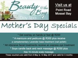 Mother's Day Special Offers at Beauty @ The Bay Mossel Bay