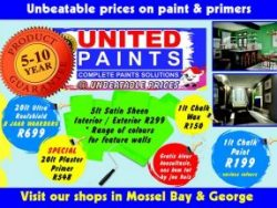 Unbeatable Prices on Paint in Mossel Bay and George