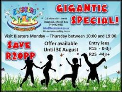 Discounted Kiddies Play Entry Fee in Mossel Bay