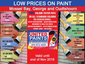 Low Prices on Paint in Mossel Bay, George and Oudtshoorn