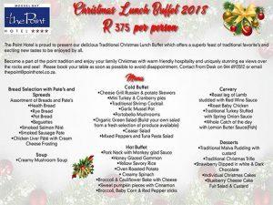 Christmas Lunch Buffet in Mossel Bay