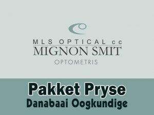 Danabaai Oogkundige Pakket Pryse