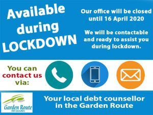Debt Counsellor Available during Lockdown