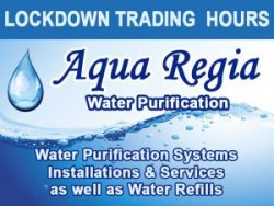 Aqua Regia Water Purification Lockdown Trading Hours